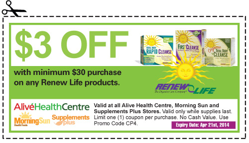 If you are looking to save on probiotic supplements, herbal cleansing, digestive enzymes, fiber supplements, fish oil supplements, digestive care, renew life, digestion problems, using an ReNew Life coupon code is one way to save yourself a tremendous amount of money upon checkout.