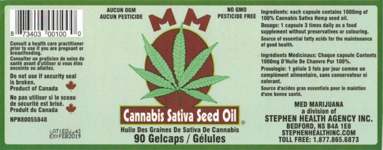 Med Marijuana Seed Oil Gel Capsules