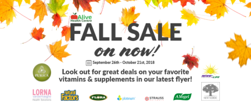 Alive, Morning Sun and Supplements Plus – Fall Flyer Sale on NOW ...