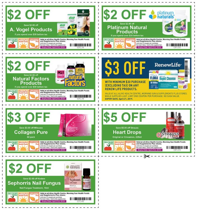Exclusive Coupons at Alive and Morning Sun!