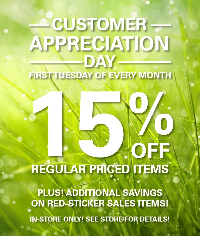 TODAY April 2nd, is Customer Appreciation Day at Alive Health Centre and Morning Sun!