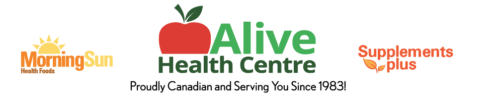 Alive Health Centre Morning Sun Health Foods Supplements Plus Logo