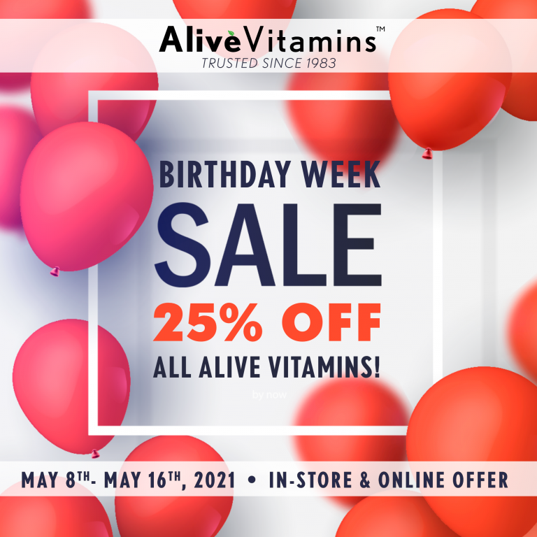 Happy Mother's Day! 25% OFF Alive Vitamins – Celebrate with Us!
