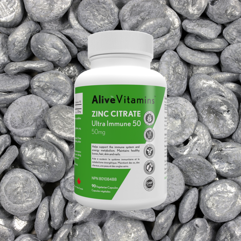 Skin, Immune and More with Zinc Citrate 50mg by Alive Vitamins™